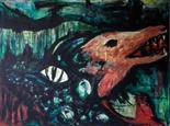 Marion Kerns-Robbert Germany `Wilderness 111` Oil on canvas 80cm x 60cm signed & unframed