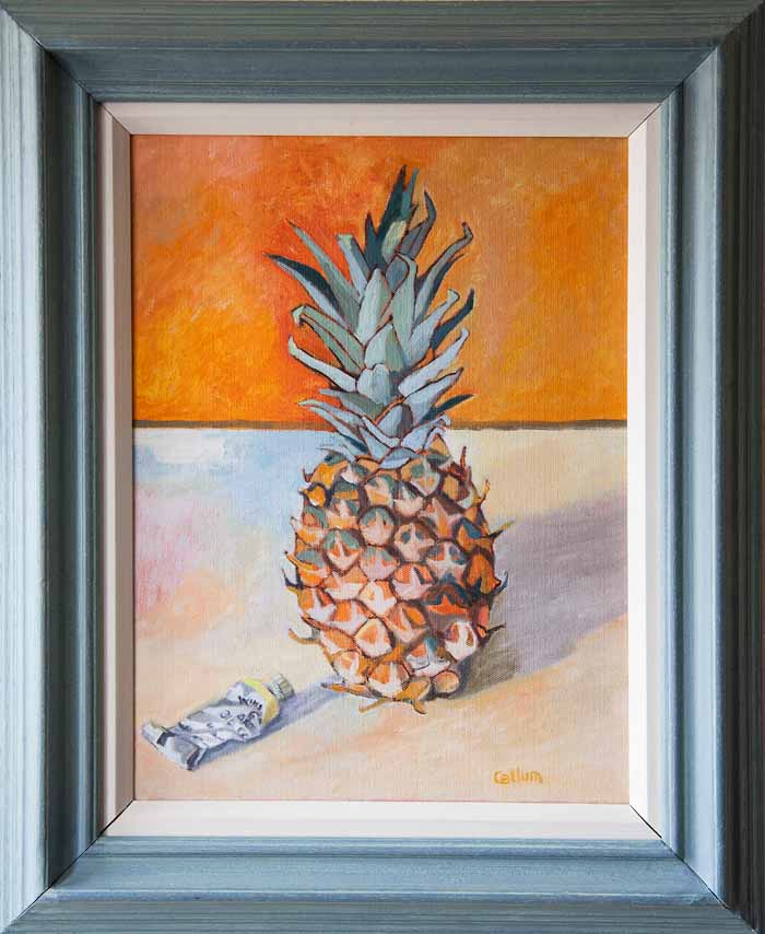 Christine Callum McInally `Pineapple` Oil on canvas 30cm x 40cm signed & framed
