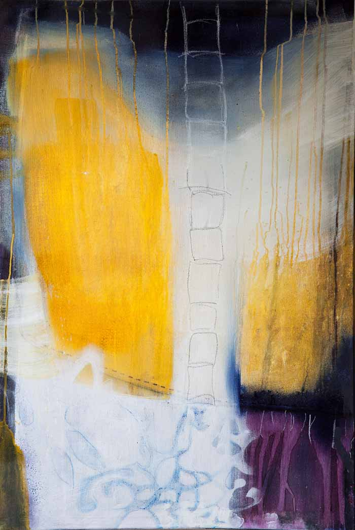 Martina Rick Germany `Take a breath` Acrylic on canvas 60cm x 90cm signed & unframed