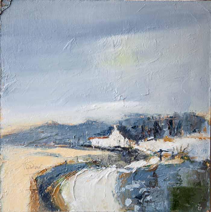 Jackie Gardiner `Untitled` Oil on board 30cm x 30cm signed & framed