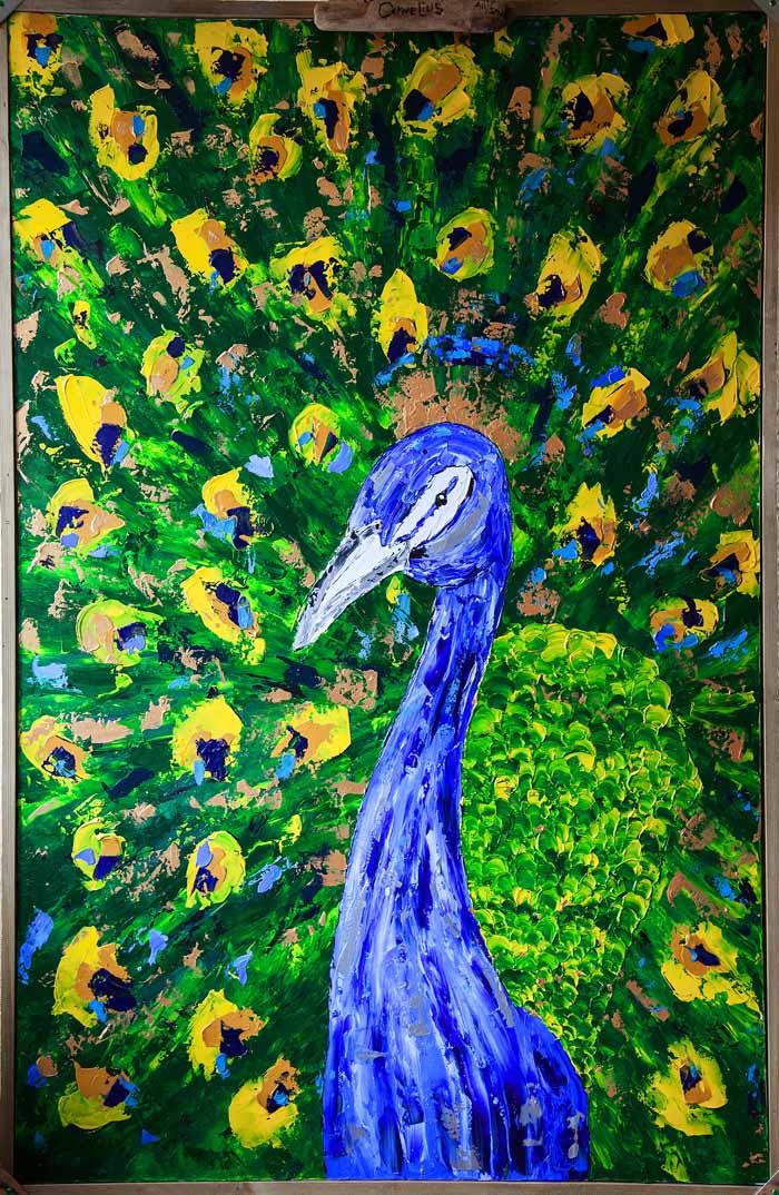 Lot 31 - Lainy Allison `Colonel Cornelius` Oil on canvas 100cm x 150cm signed & framed