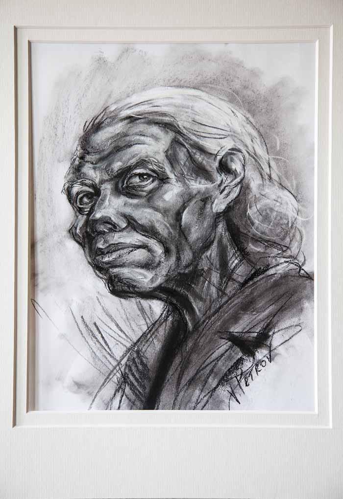Valentin Petrov `Katie Kolvitz` Charcoal drawing 25cm x 35cm signed & framed