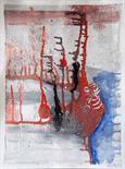 Annett Kruppa `Untitled` Oil on card 30cm x 38cm signed & framed