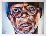 Jillian Thompson `Samuel L Jackson` Artists proof #1 50cm x 37cm signed & framed