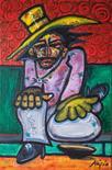 Alipio (Paulo Santos) Portugal. `The Thrump` Oil on canvas 50cm x 76cm signed & unframed