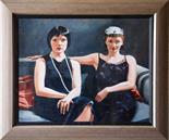 Todd Garner USA `Thoroughly Modern` Oil on Cavas 50cm x 40cm signed and framed