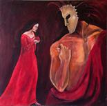 Yvonne Taylor ( Sotheby`s Young Artist of the year 1999 `Persephone` Acrylic on canvas 80cm x80cm