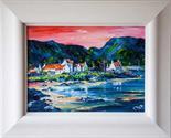 Amendment  - acrylic on canvas not oilColm O`Brien `Plockton` acrylic on canvas35cm x27cm Signed
