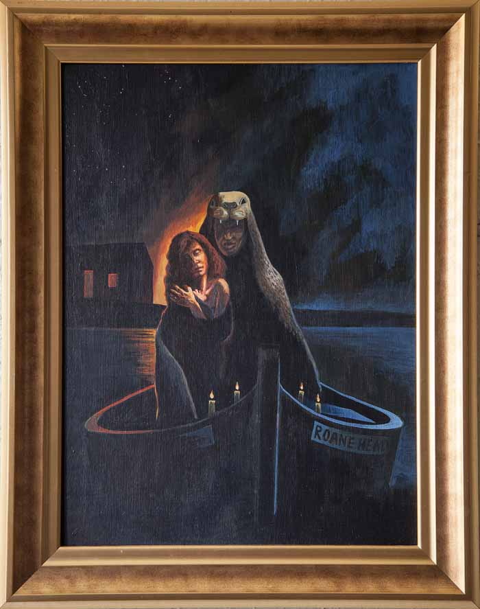 Frank McNab `At Roane Head` Oil on Canvas 45cm x 60cm signed on reverso and framed