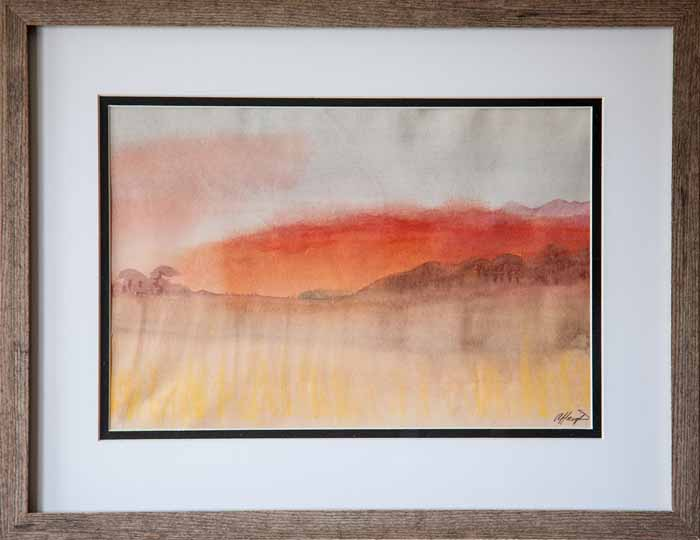Annette Haigh `Balgay Hill` Watercolour and Pastel 30cm X 20cm signed and framed