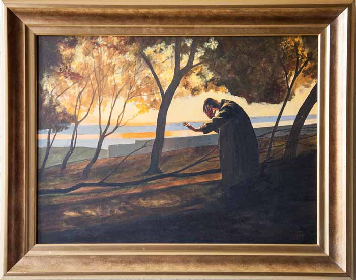 Frank McNab `It Sighs Round You` Oil on Canvas 60cm x 45cm signed and framed