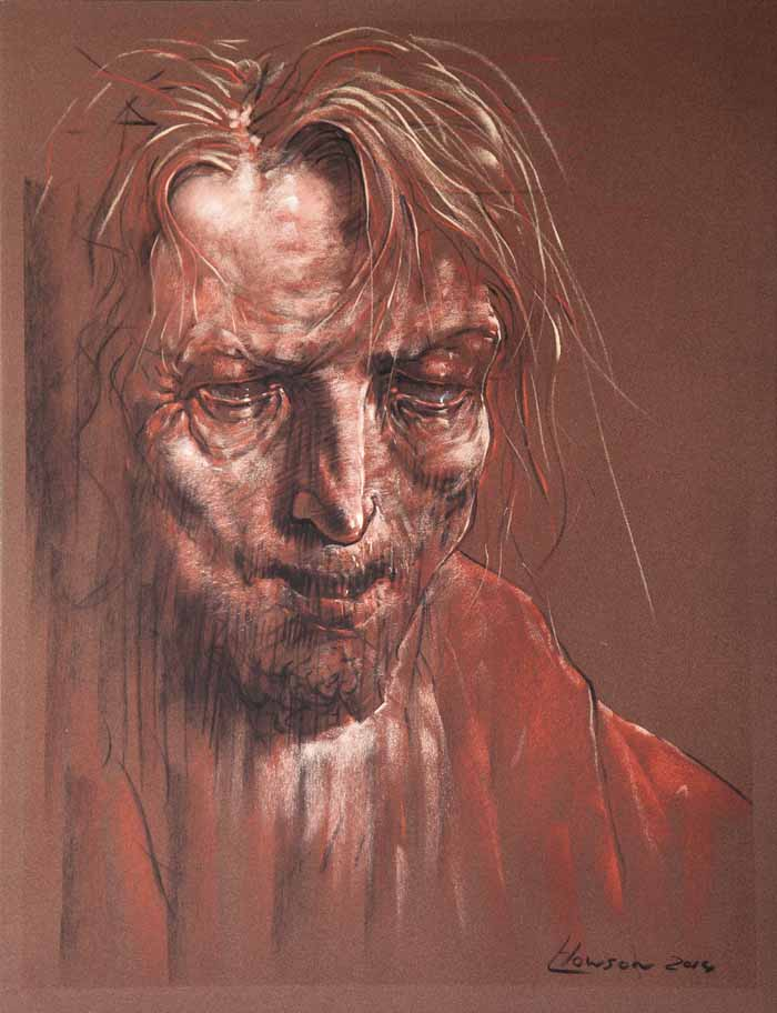 Peter Howson OBE The Kingdom of Heaven` Pastel 50cm x 65cm signed and framed