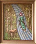 James Skelton Smith `The River` Oil on canvas 50cm x 40cm signed reverso & framed