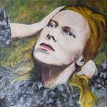 Caroline Elisabeth Gormley `Portrait` Acrylic on Canvas 60cm x 60cm signed Reverso and unframed