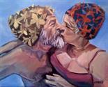 Jody Kelly `Real Love` Acrylic on canvas 50cm x 40cm signed & framed Photo to follow