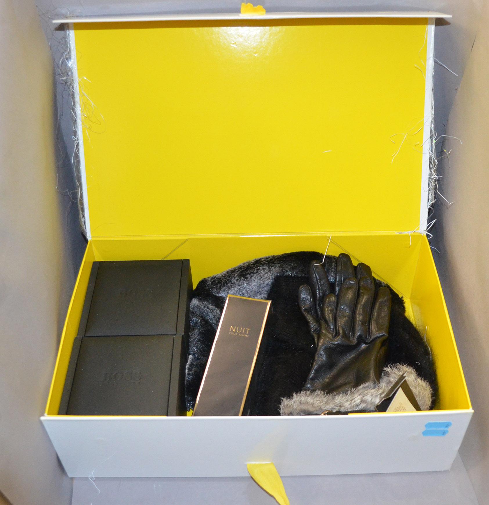 Ladies leather gloves selfridges - Lot 1037 Police Selfridges Gift Box Containing Hugo Boss Ladies Watch Hugo