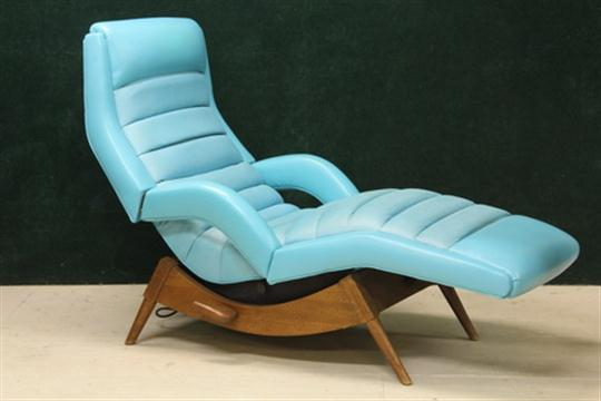 Attirant MASSAGE LOUNGE   Contour Chair Co Of St Louis Mo, Dated 1963 `Viverator` Lounge  Chair With Textur