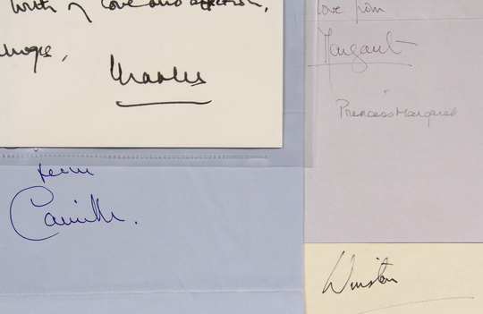 Lot 985 - (7) AUTOGRAPHS BRITISH ROYALTY & INVITATION - All to Brooke Astor, including: (2) Prince Charles: