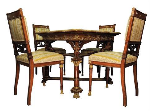 Sedie Stile Francese : La parte posteriore rotonda di stile francese che pranza le sedie