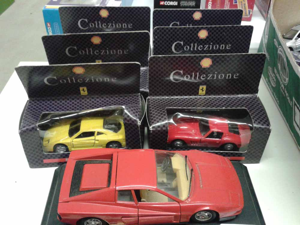 Lot 350   Shell Collection Ferrari Cars X 6 U0026 A Burago Ferrari