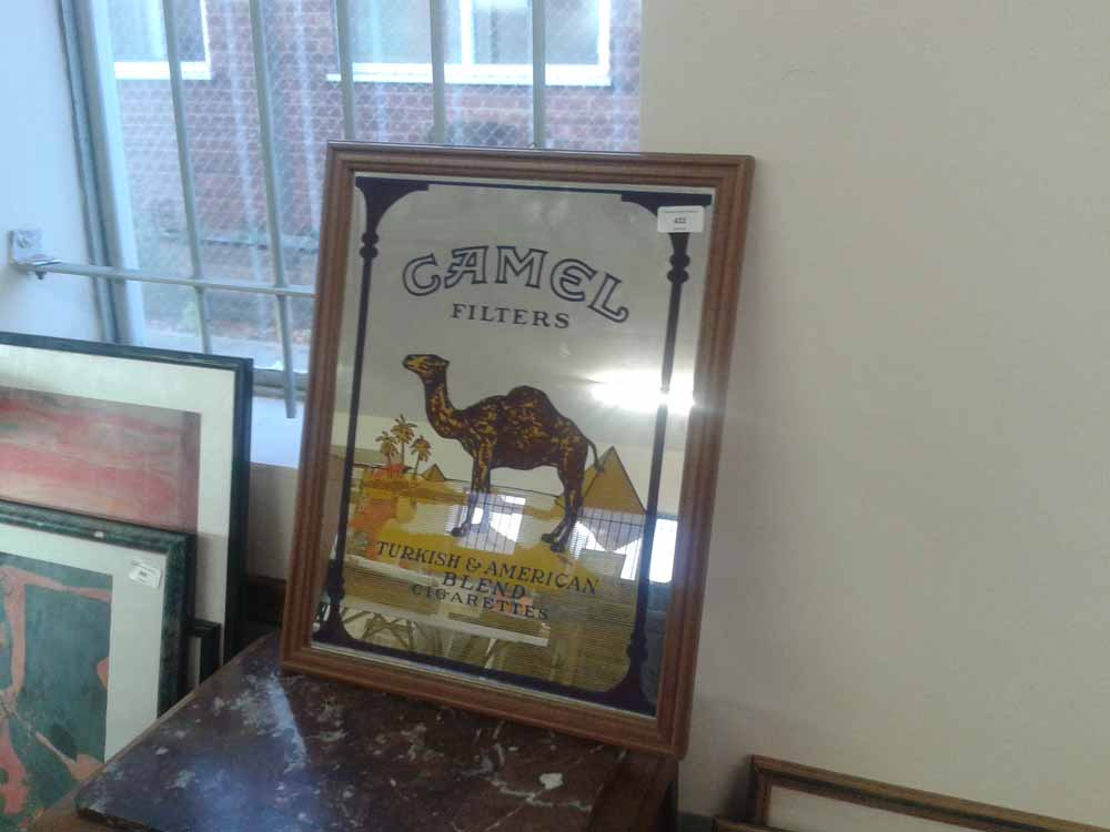 A Camel Cigarettes advertising mirror