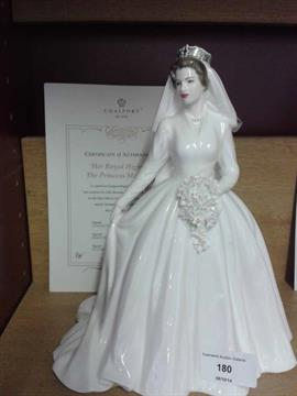 Coalport Limited Edition Princess Margaret In Wedding Dress Figure