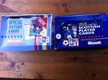 Lot 90 - 2X OFFICIAL FIXTURE CARDS & 1991/1992 SCOTISH PLAYERS CARDS
