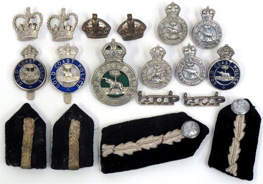 Gold Coast Police Badges consisting of three types of Kings crown