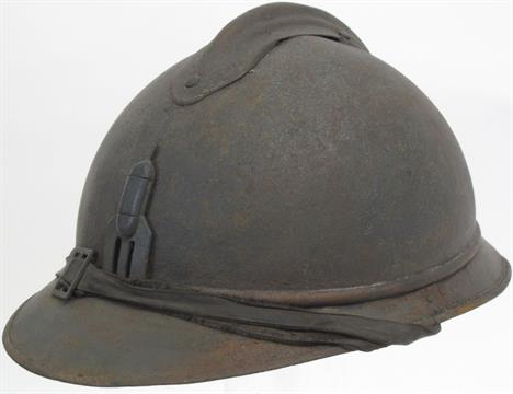Scarce French Adrian Helmet Trench Mortar Unit Being A Standard Form