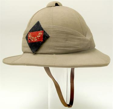 f7033577a01ed Queens Regiment Wolseley Helmet with large 9 fold pagri with Queens ...