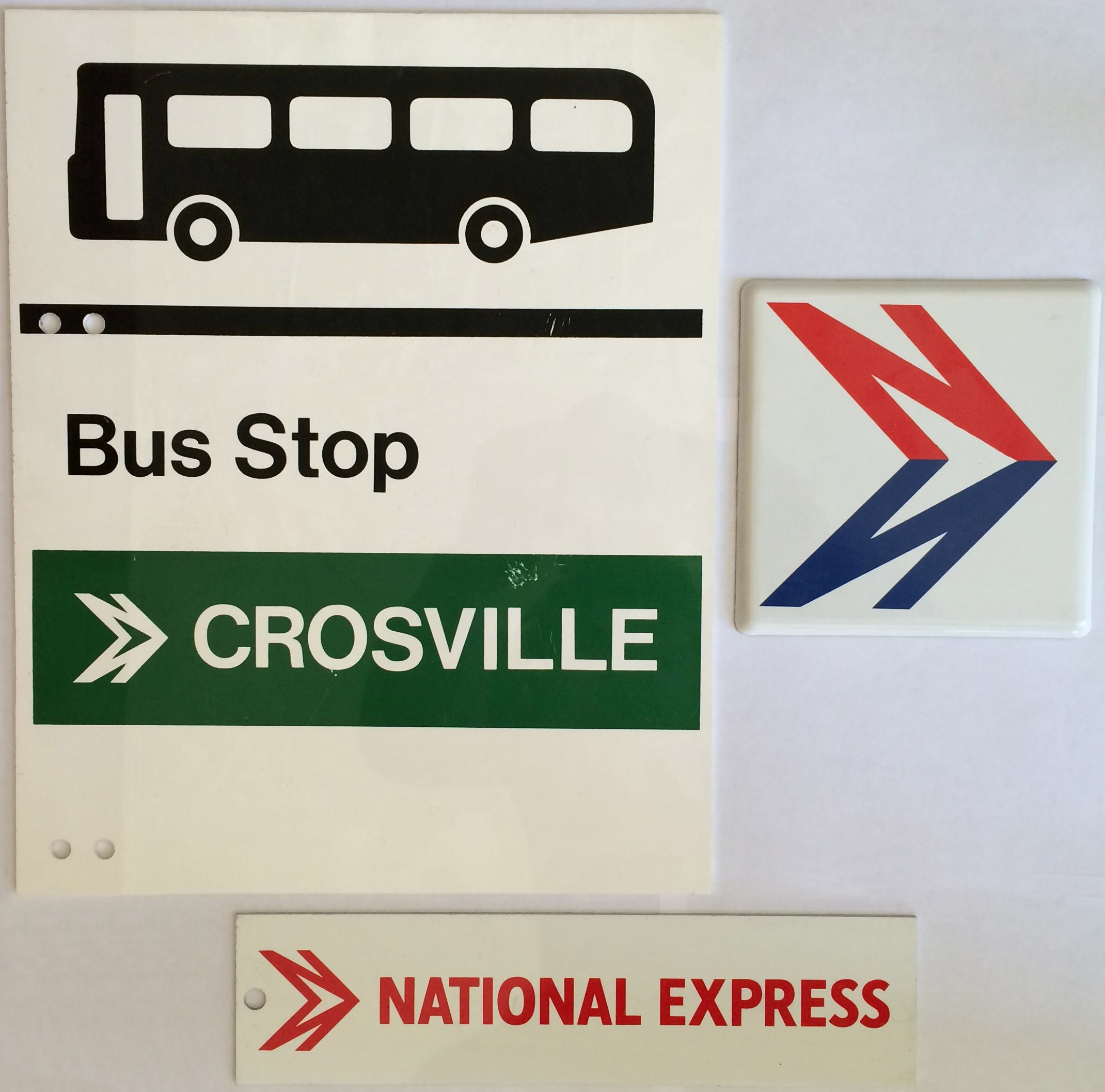 national bus company items comprising a crosville bus stop