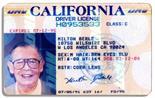 Milton Berle`s Driver`s License Milton Berle driver`s license from 1991. California driver`s license