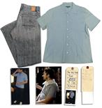 Gerard Butler Screen-Worn Shirt & Jeans From the Romantic Comedy ``The Ugly Truth`` Gerard Butler