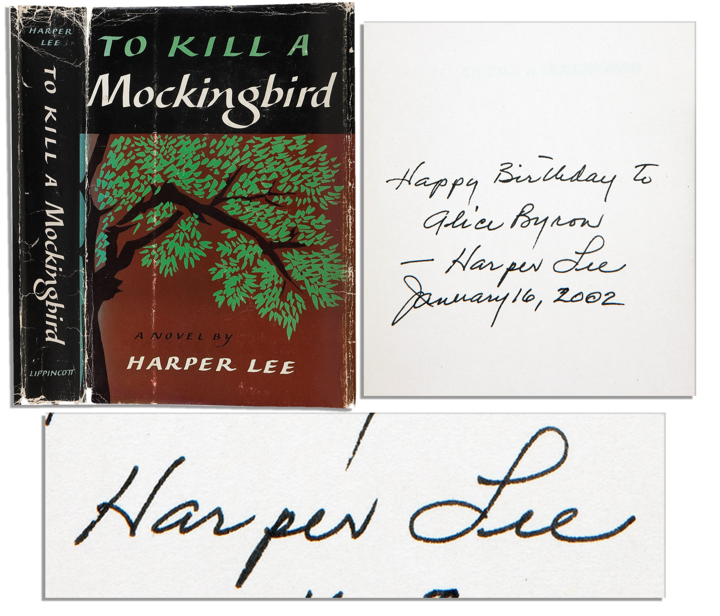 Harper Lee Signed First Edition of Her Pulitzer Prize Winning Work ``To Kill A Mockingbird``