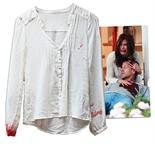 Teri Hatcher Screen-Worn Wardrobe From ``Desperate Housewives`` -- Blood-Stained Shirt From