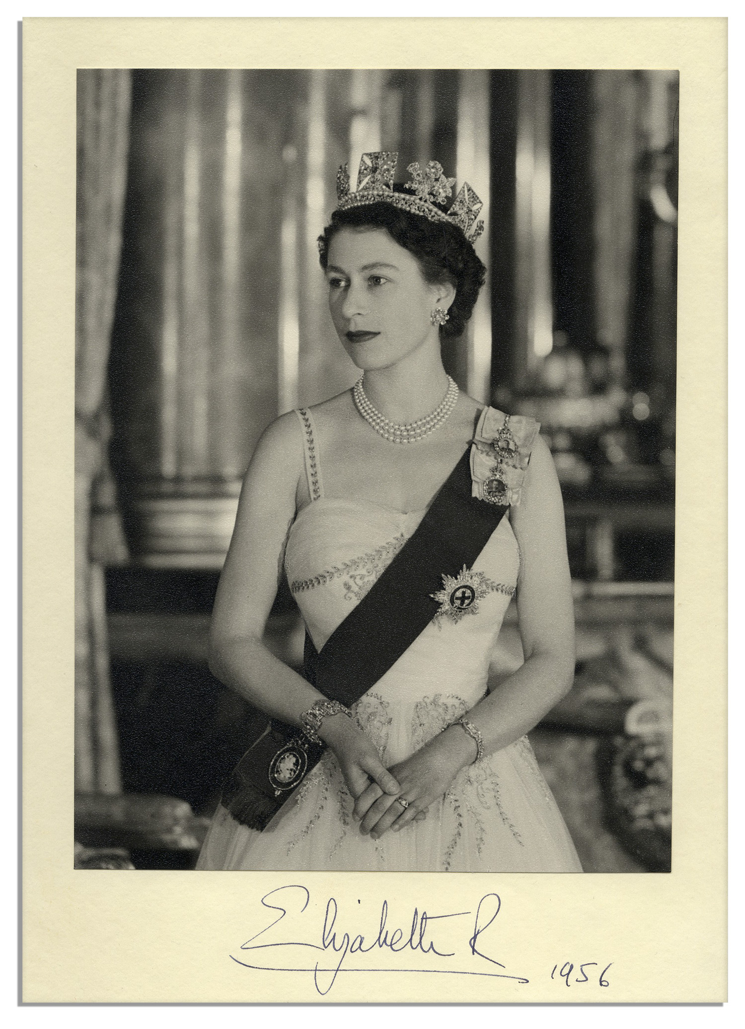 Lot 21 - Stunning Signed Photo of Queen Elizabeth II -- Photograph by Cecil Beaton Queen Elizabeth II photo