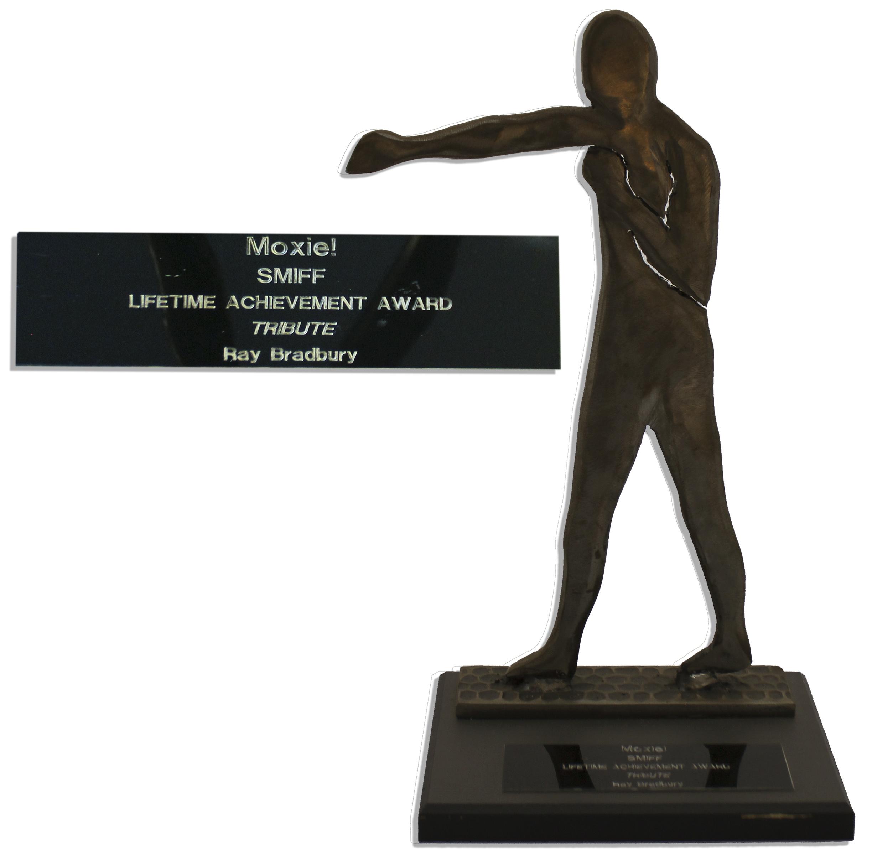 Lot 218 - Ray Bradbury`s Santa Monica International Film Festival Moxie Award Lifetime Achievement Moxie