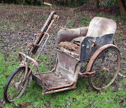 1950 Harding Rideinease Rotary Tricycle Invalid Carriage Antique