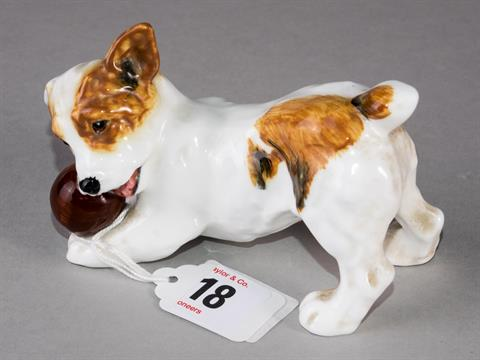 Royal Doulton figurine of a Jack Russell terrier puppy