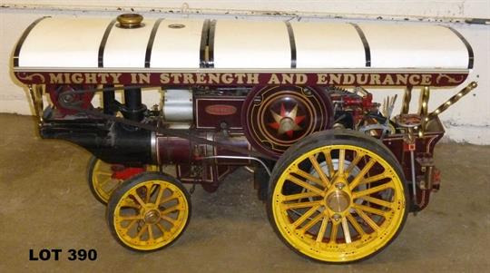 """2"""" scale Fowler Showmans steam engine – """"Mighty in Strength"""" with"""