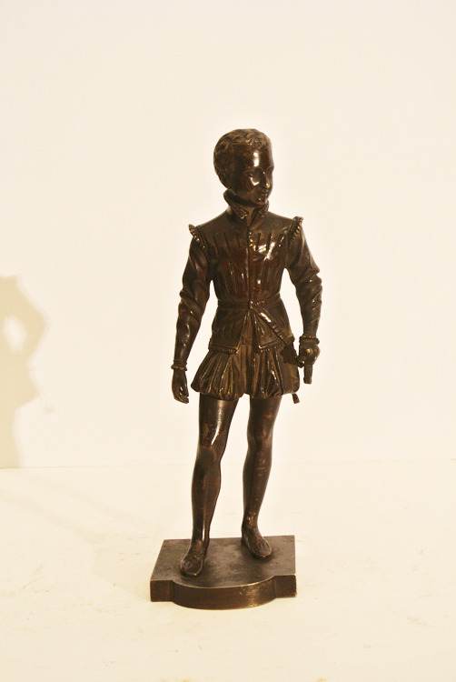 Francois Joseph Bosio (French 1769 - 1845). A bronze sculpture depicting a `young noble man`,