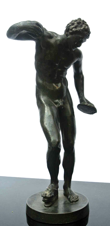 Italian School 19th century. A remarkable bronze sculpture of a satyr, Italian School 19th century.