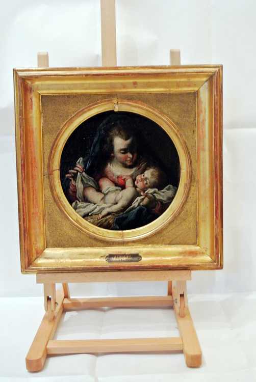 Venetian School 18th century. An interesting oil painting depicting `Madonna and Child`, Venetian