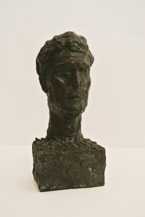 Italian School begin of 20th century. A bronze head of a man, Italy beginning of 20th century. In