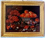 French School 18th century. An interesting oil painting depicting grape, apricots, walnuts, figs