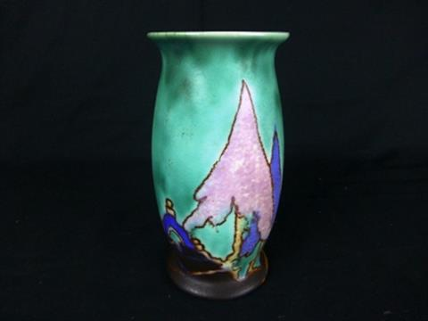 A Clarice Cliff Inspiration Capri Vase Hand Painted Marks