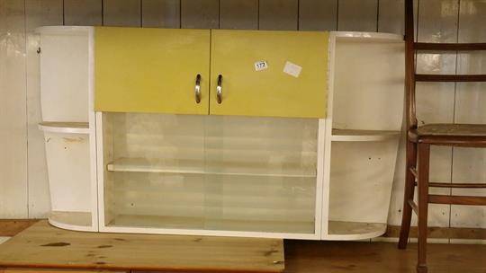 1960's retro vintage kitchen wall unit - 2 cupboards, 2 sliding