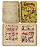 Lot 22 - Beano Book 1 (1940). Complete, well worn, spineless example with clear tape in place of spine. One