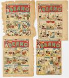 Lot 26 - Beano consecutive front cover printer`s proofs (1947) 312, 313, 314, 315, three covers signed off