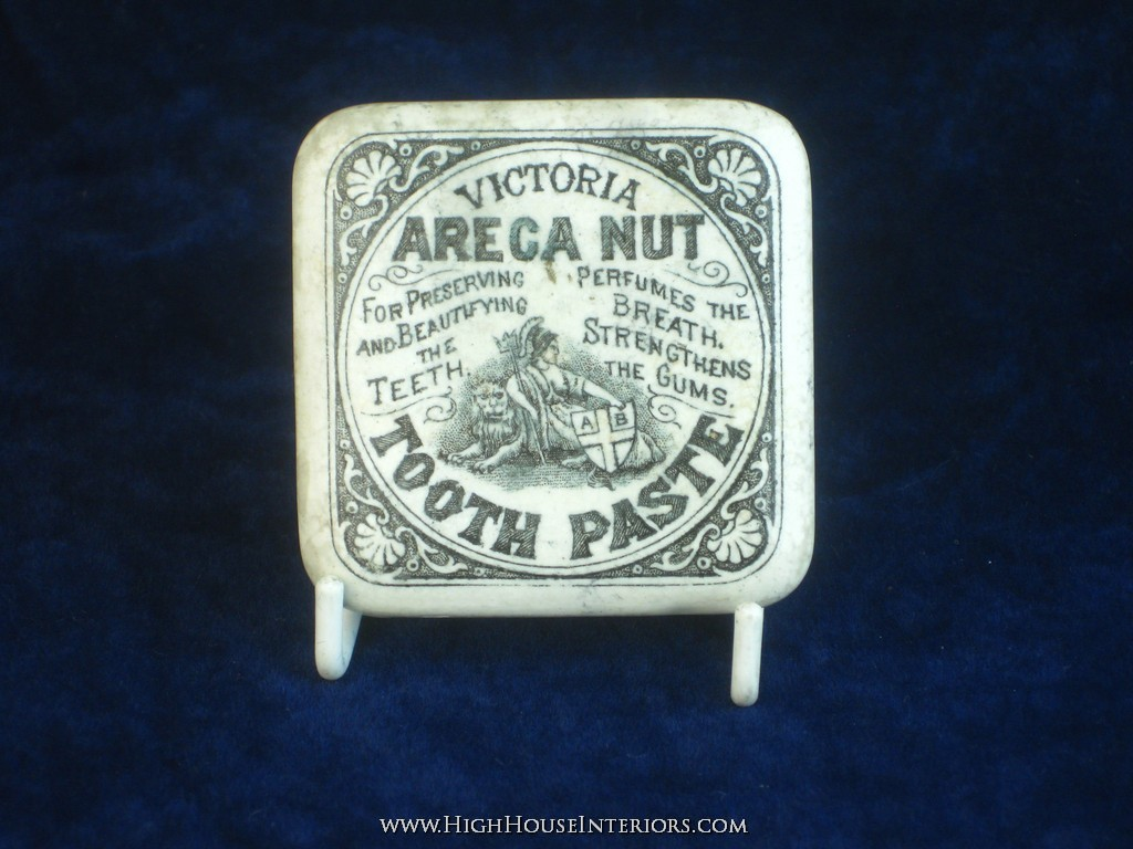Old Pot Lid Victoria Areca Nut Tooth Paste - Two impacts to corners